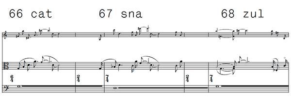 excerpt from score of music for viola