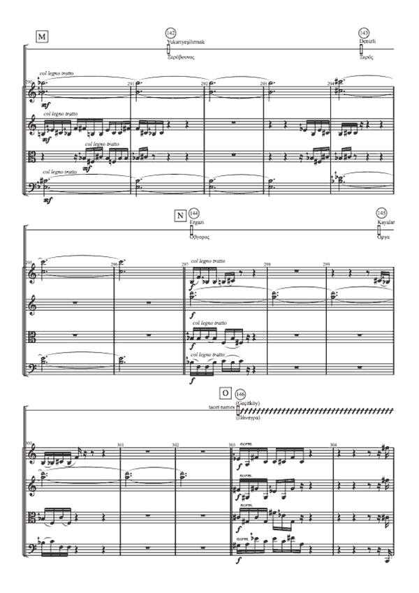 excerpt from score of toponymy
