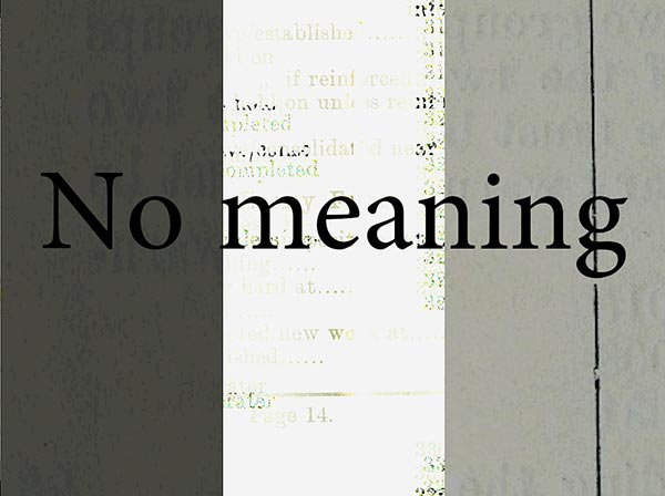 No meaning
